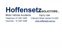 Hoffensetz Solicitors is a local Legal Practice, of which the Principal is Roderick Hoffensetz. The firm is situated close to the Ipswich Courts Complex and is focused on the practice areas of litigation and dispute resolution. Hoffensetz Solicitors provides quality client attention and service delivery to its clients throughout the South East Corner of Queensland
